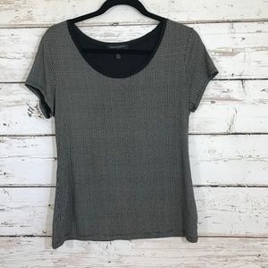 Banana republic cream black short sleeve top